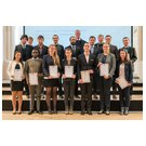 Graduates of Faculty 3 – Geosciences, Geoengineering and Mining, with Rector Pro