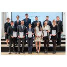 Graduates of Faculty 2 – Chemistry and Physics, with Rector Prof. Dr. Barbknecht