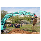 Symbolic ground-breaking ceremony for the new buildings on the Science Corrid
