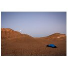 Dry land with tent