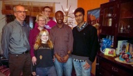 Family Herrmann with Fadzai from Simbabwe and Mitesh from India