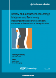 "Buchcover ""Review on Electrochemical Storage Materials and Technology"" (c) TU Be"