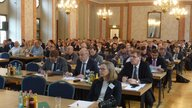 About 140 people in business dresses at the 14th Symposium on Mineral Processing