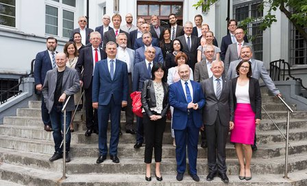 Participants of the trilateral workshop on 04.07.2017 in Zabrze ©TU Bergakademie