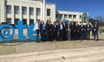 Group picture in front of the Instituto Superior Técnico in Lisbon