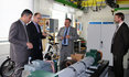 Dr. Idris Hadi (3rd from left) is shown the E-technology laboratory at Freiberg
