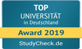 Grafic TOP University in Germany -  Award 2019 - StudyCheck.de