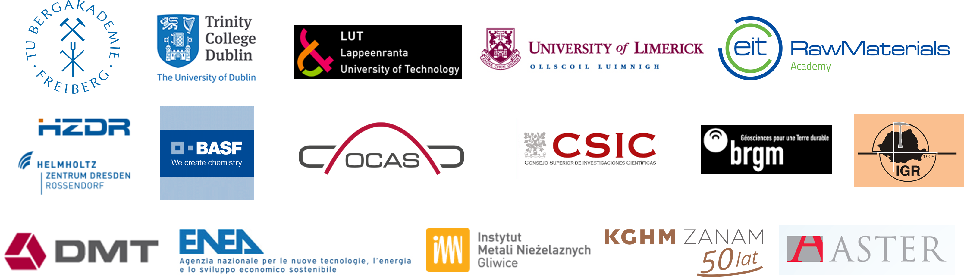 Logos of the participating organisations