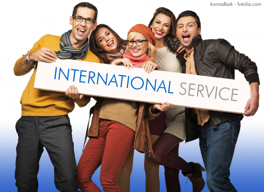 Titelbild für die Rubrik International Service