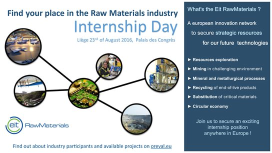 EIT Raw Materials Internship Day August 2016