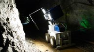 Measuring vehicle for automated geological mapping underground
