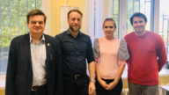 Vladislav Blatov (Director of the SCTMS), Tilmann Leisegang, Yelizaveta Morkhova (Junior Research Scientist), Evgeny Alexandrov (Head of Laboratory).