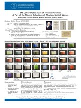 Beata Heide, Susanne Paskoff, Andreas Massanek, Gerhard Heide: 249 Colour Plates made of Meissen Porcelain: A Part of the Mineral Collections of Abraham Gottlob Werner, XV Universeum Network Meeting, Juni 2014, Hamburg