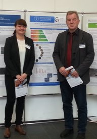 K. Schaldach and Dr. H.-W. Schröder in front of the contributed poster