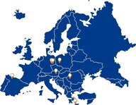 Map of the EU with 7 hotspots