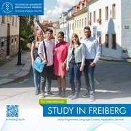 "Cover of the brochure ""Study in Freiberg"""