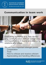 Communication in team work - workshop - 16 December 2017