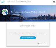 Download-Seite des AnyConnect-Programms